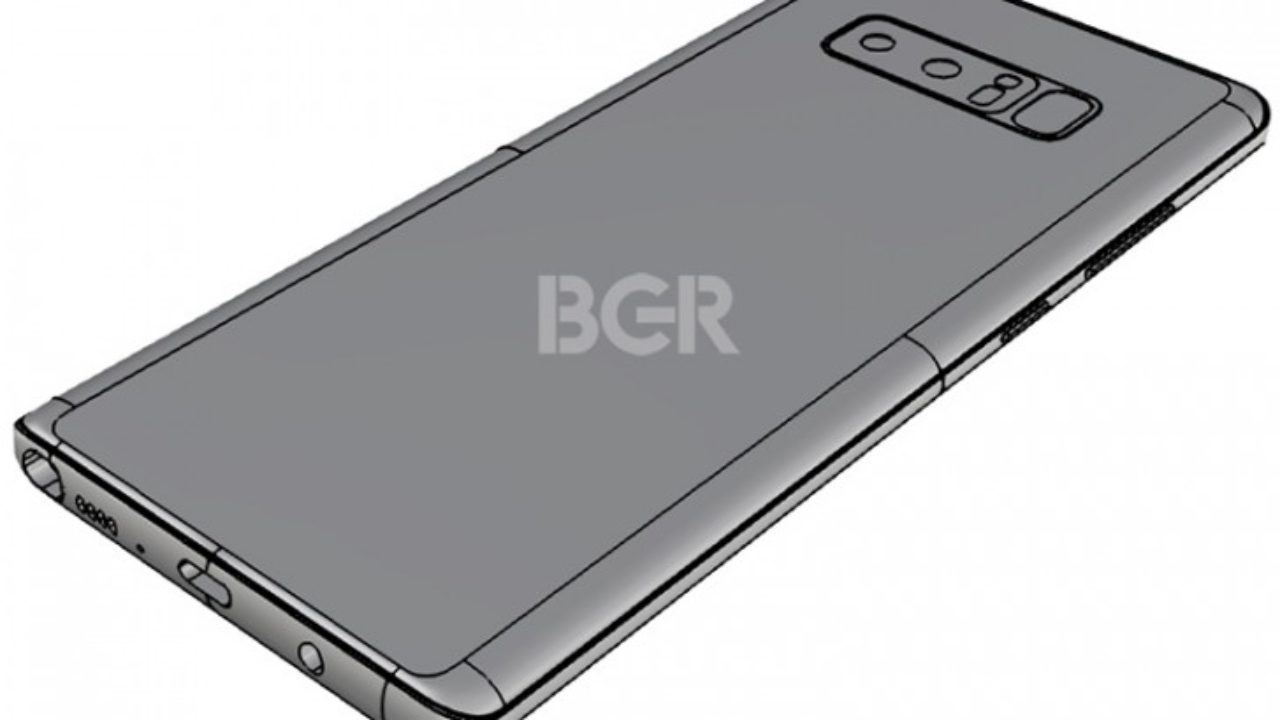 Leaked Note 8 design hints dual rear camera setup but